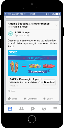 passworks distributed the campaign through facebook ads